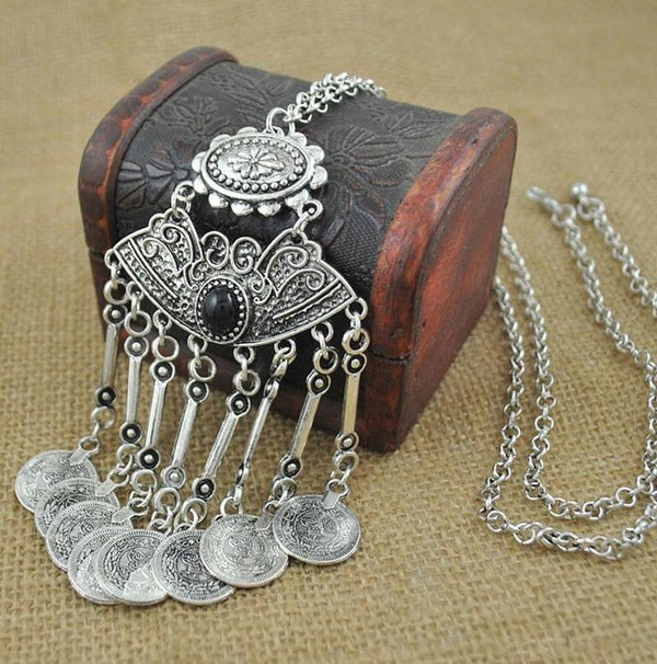 Antique Coin Chain Necklace - Trendy Bohemian