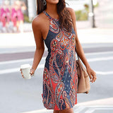Paisley Print Boho Dress - Trendy Bohemian