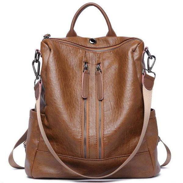 Leather Backpack Purse - Trendy Bohemian