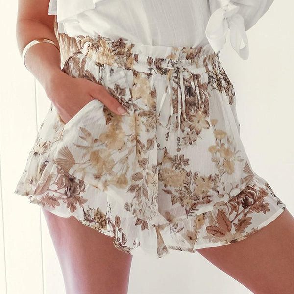 Ladies Floral Print Shorts - Trendy Bohemian