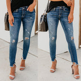 Ripped  Denim Jeans - Trendy Bohemian