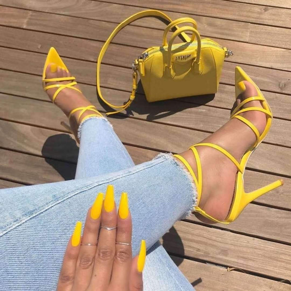 Pointed Toe Stilettos - Trendy Bohemian