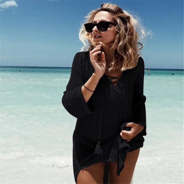 Knit Bathing Suit Cover-Up - Trendy Bohemian