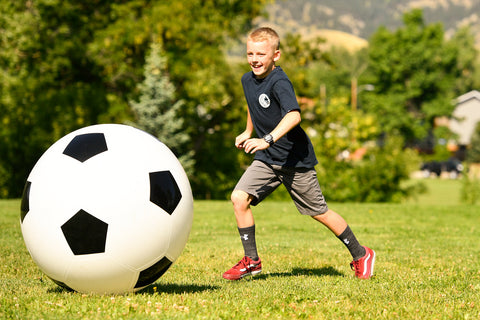 play outside - giant soccer ball