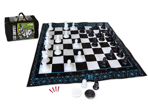4Fun Jumbo 2-in-1 Chess and Checkers Game Set