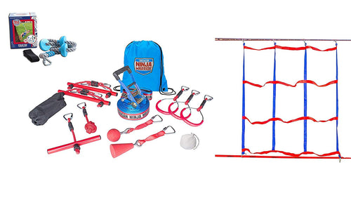 American Ninja Warrior Deluxe Ninjaline Kit with 11 Obstacles 40'