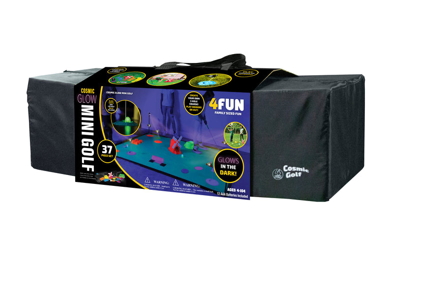 DELUX Cosmic Glow Golf - 5 Hole Course Set