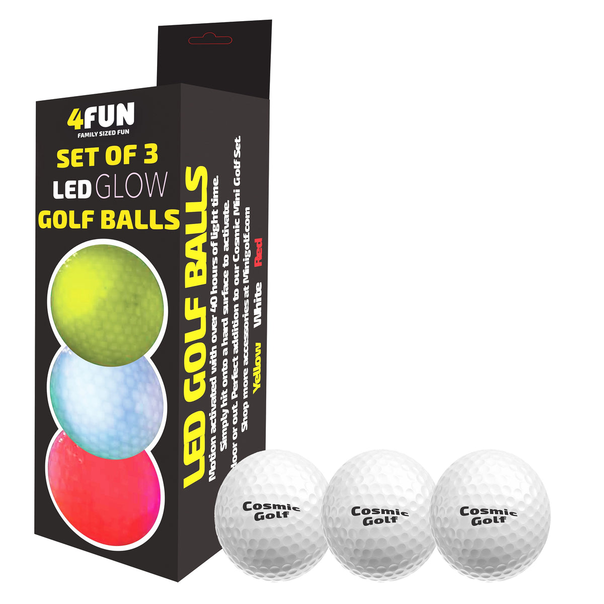 LED Glow in the Dark Golf Balls