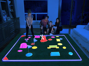 DELUX Cosmic Golf Glow Golf - 5 Hole Course Set