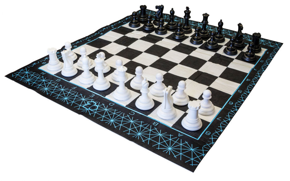 Jumbo 2-in-1 Chess and Checkers Game Set