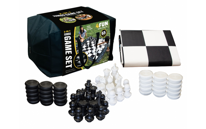 4 Fun Jumbo Chess and Checkers Set