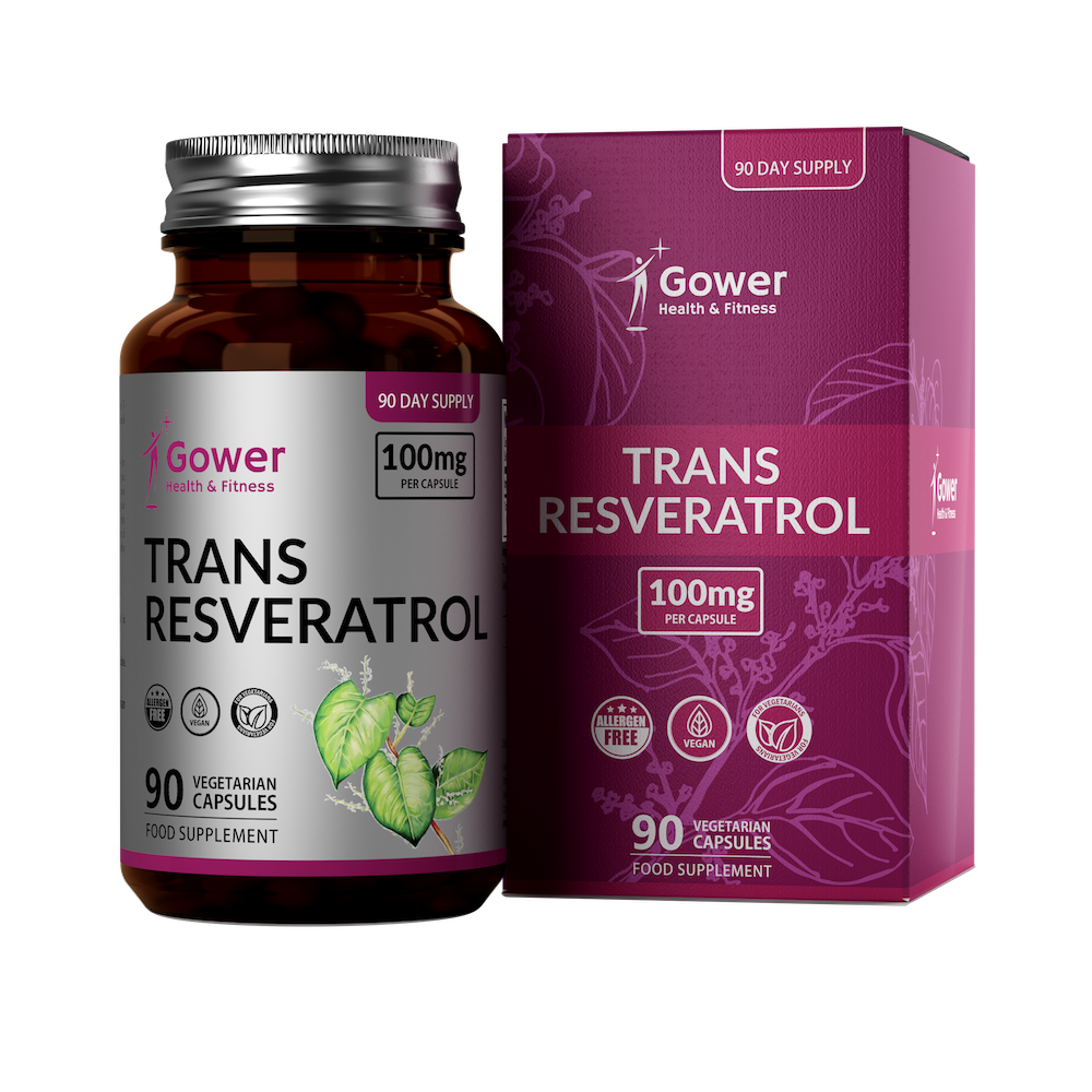 Trans Resveratrol 100mg Capsules Gower Health Fast Delivery