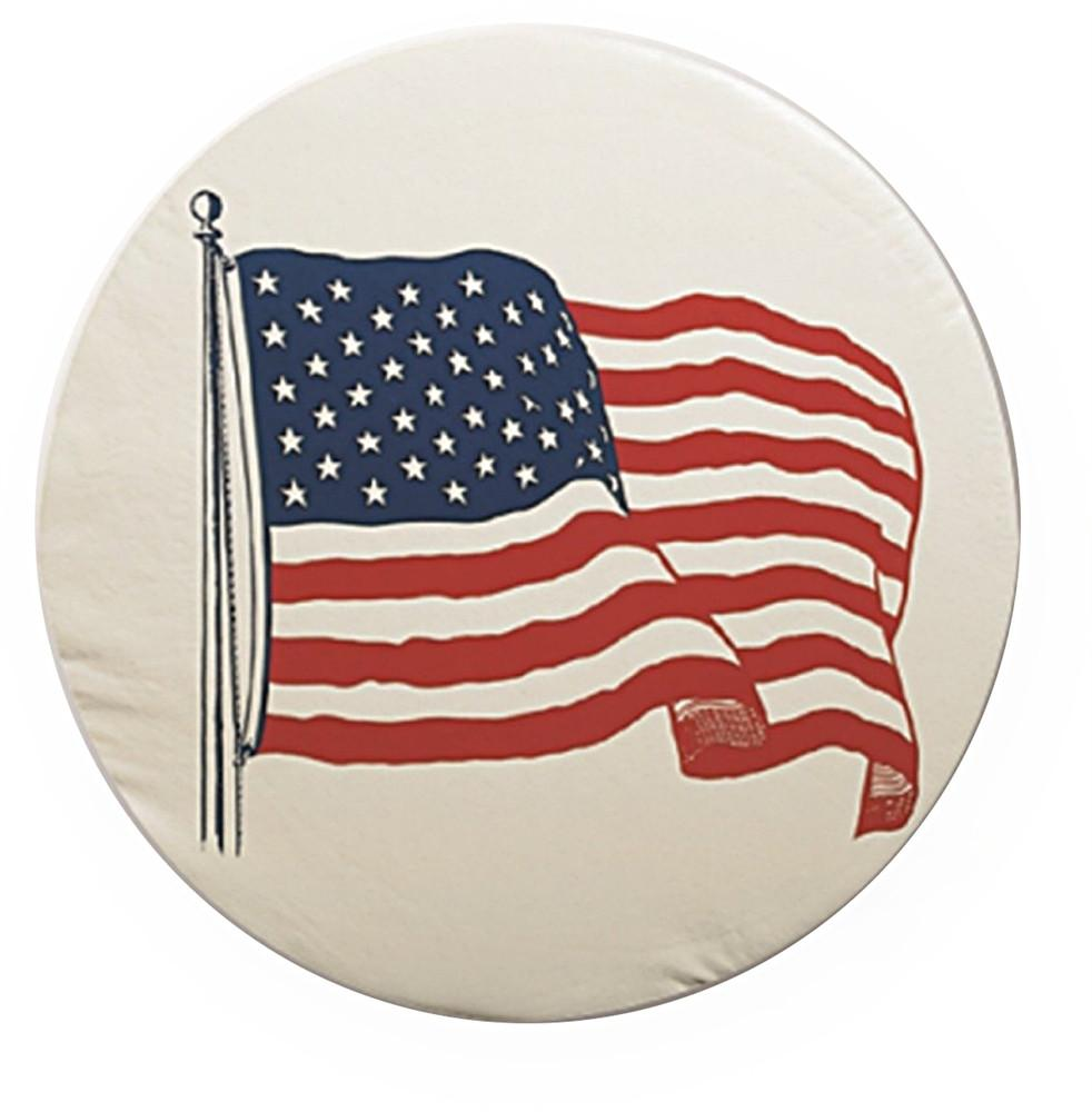 "Tire Cover - ""A"" - American Flag - 34"""