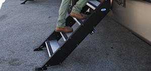 "RV 27"" MorRyde Fold up Step - 3 Step - STP-3-27-02H"