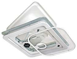 RV Roof Vent 12 Volt Complete - White