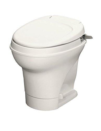 Thetford AM V Hi RV Toilet with Hand Flush - White or Parchment 31667/31668