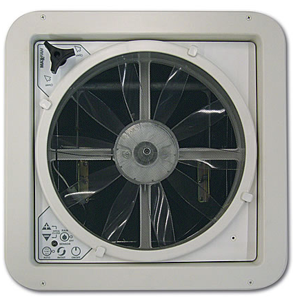 MaxxAir Fan Plus - Electric Lift - Smoke - 00-04500K