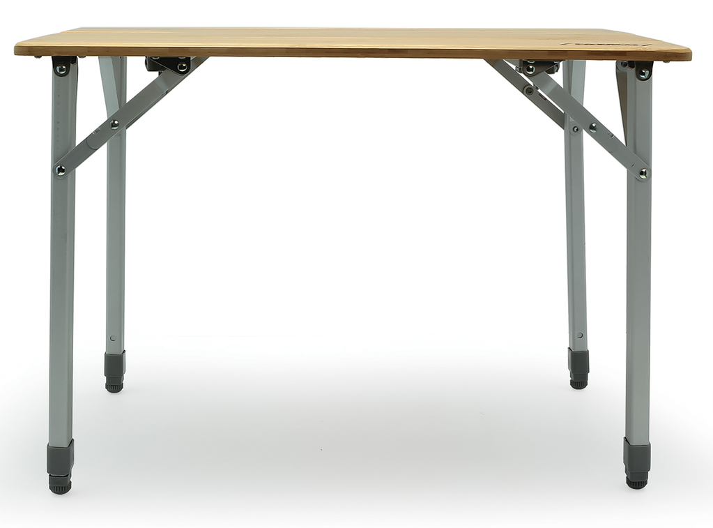 Compact Bamboo Folding Table w/ Aluminum Legs
