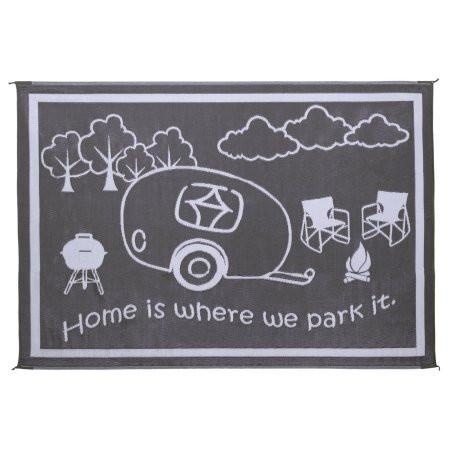 RV Home - 8' X 11' - Black/White