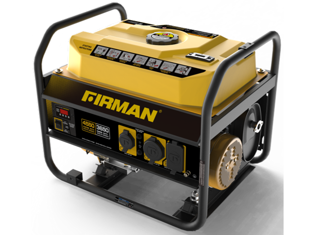 Firman 3650 Watt Portable Generator w/Wheels P03602