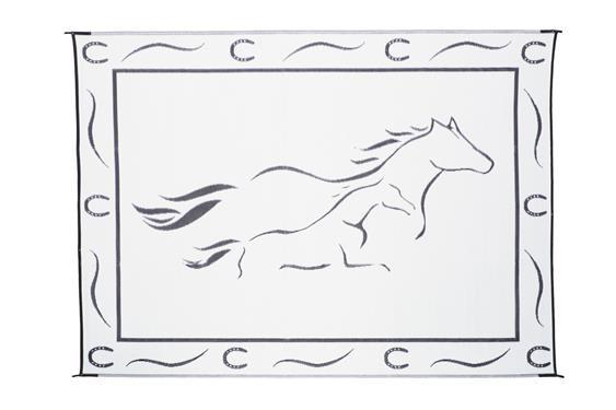 Galloping Horse Mat - 8' X 18' - Black/White