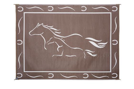 Galloping Horse Mat - 8' X 11' - Brown/Beige