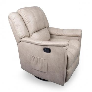 Recliner/Swivel Glider - Heated - Grantland Doeskin