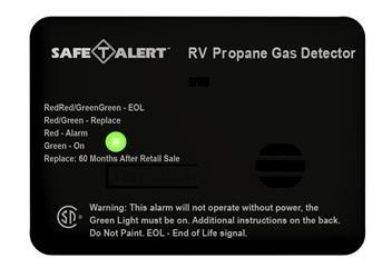 Mini LP Gas Alarm - Surface Mount - Black - 20-441-P-BL