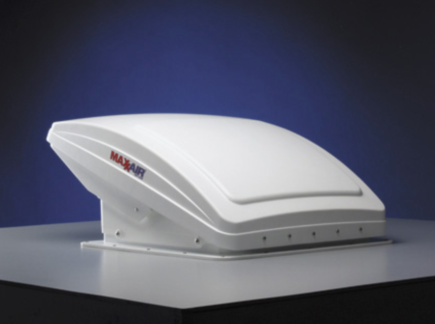 MaxxAir Fan Deluxe - Electric Lift - White- 00-07000K