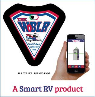 RV WoBLR Battery Operated Smart Level by RV Intelligence