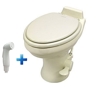 Dometic 320 RV Toilet with Spray - White or Bone