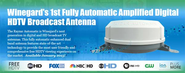 Rayzar Automatic Amplified HD TV Antenna - Black