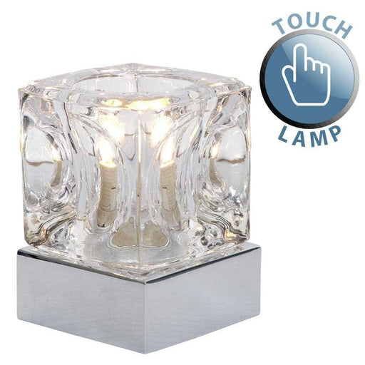 Ice Cube Touch Table Lamp Chrome