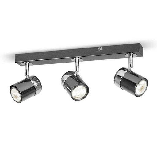 Rosie 3 Way Straight Bar Spot Light Black Chrome