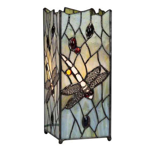 Dragonfly Design Tiffany Square Table Lamp