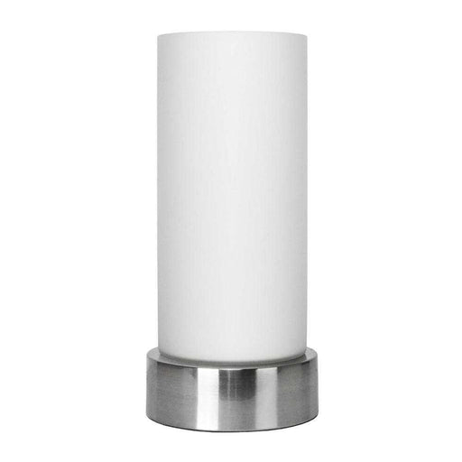 Cylinder Table Lamp Satin Nickel