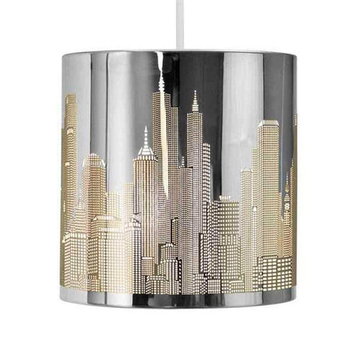 Skyline Cut-out NE Pendant Shade Stainless Steel
