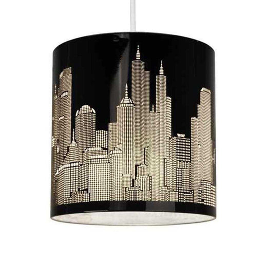 Skyline Cut-out NE Pendant Shade Gloss Black