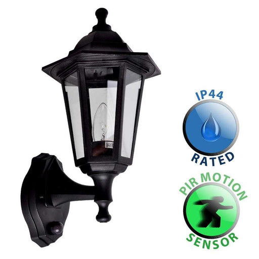 Mayfair IP44 Outdoor Wall Lantern With PIR Sensor Polypropyl