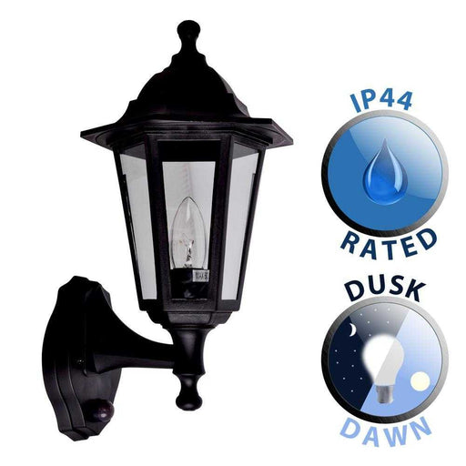 Mayfair IP44 Outdoor Wall Lantern With Dusk To Dawn Sensor P
