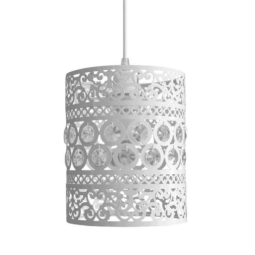 Ornate Drum Non Electric Pendant Shade Shabby Chic