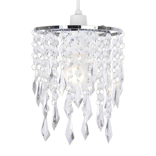 Non Electric Pendant Shade With Clear Acrylic Droplets