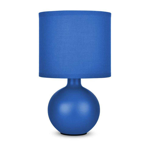 Small Ceramic Table Lamp Navy Blue