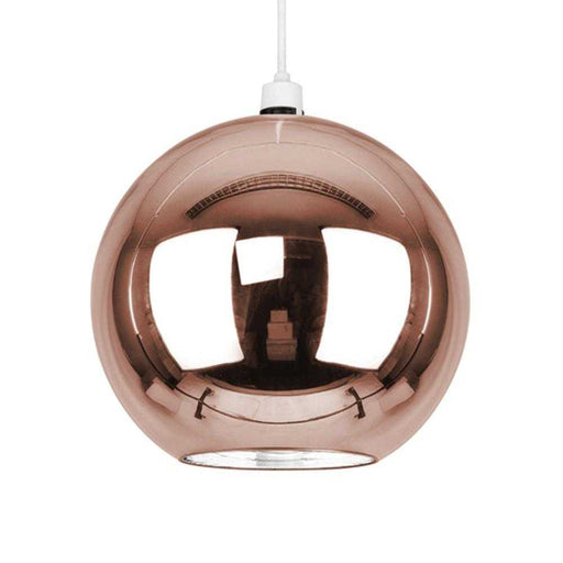 Copper Metallic Globe Non Electric Pendant