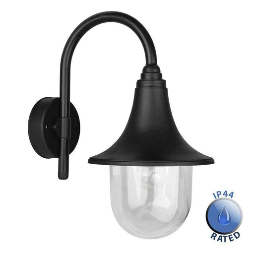 IP44 Bramhall Outdoor Swan Neck Lantern Polypropylene
