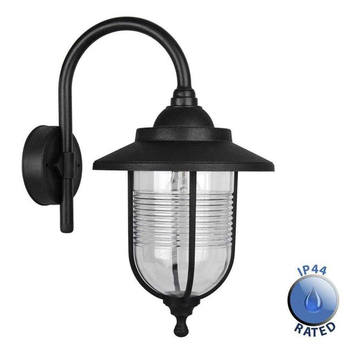 IP44 Eyam Outdoor Swan Neck Wall Lantern Polypropylene