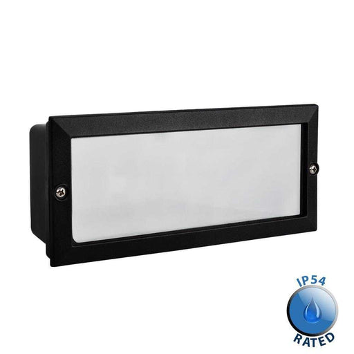 Thornton Aluminium IP54 Brick Light Black