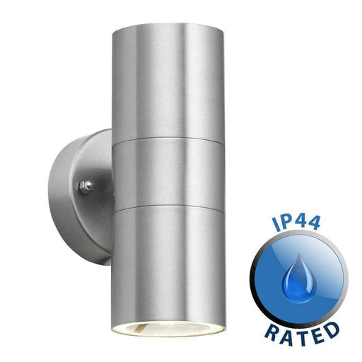 Gainsford GU10 Up Down IP44 Wall Light Stainless Steel
