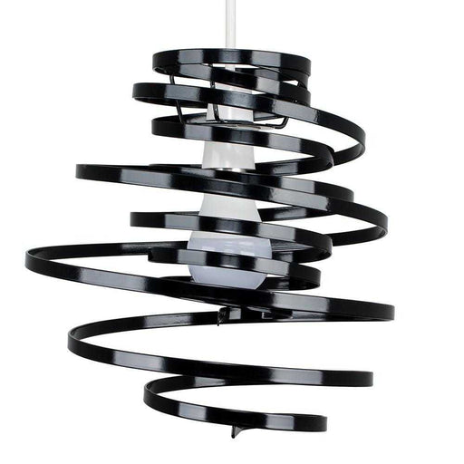 Bensson Twisted Non Electric Gloss Black Pendant Shade