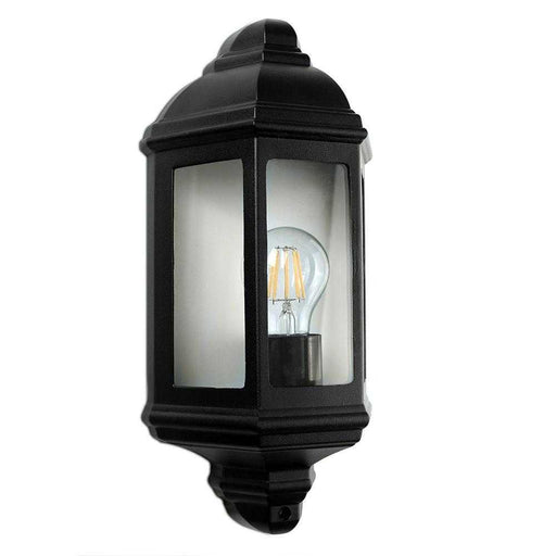 IP44 Banbury Outdoor Wall Flush Mounted Lantern Aluminium